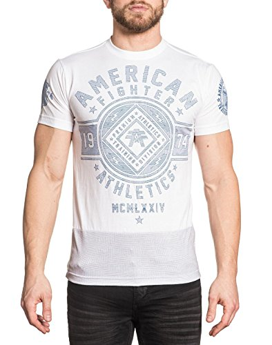 New American Fighter - American Fighter  Men's Chestnut Hill Camo Mirage Short Sleeve Tee White T-Shirt