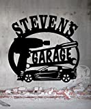 Corvette Garage Sign 23.5 x 22.25 Personalized Metal Sign - Metal Wall Art Gift