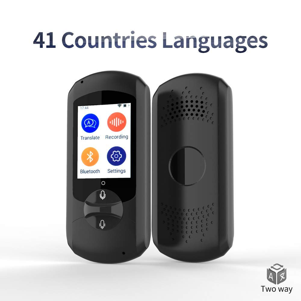 Language Translator Device,Real-time Two-Way Foreign Speech/Text WiFi&4G 2.4 inch IPS Touch Screen for Travelling Abroad Learning Off-Line Shopping Business Chat Recording Translations