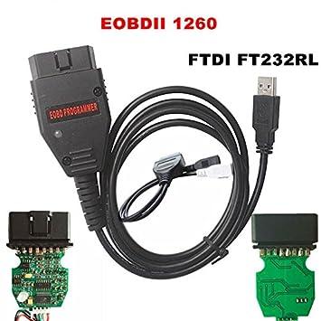 Galletto 1260 ECU EOBD OBD2 Cable de diagnóstico programa Remap Flasher Herramienta De Tunning: Amazon.es: Coche y moto
