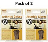 IMAK Compression Arthritis Gloves, Original with Arthritis Foundation Ease of Use Seal, Small (Pack of 2)