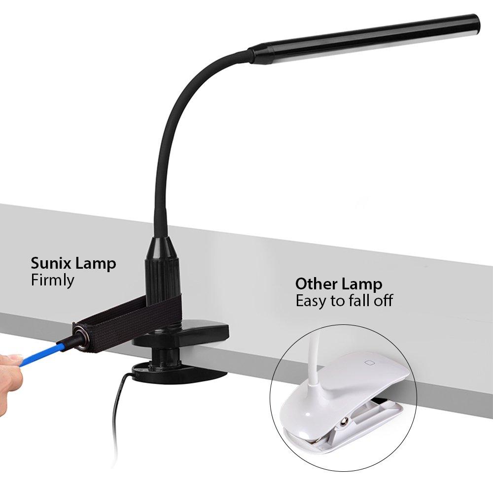 Touch-Steuerung LED Leselicht USB-Kabel Inklusive LED Tischlampe LED Leselampe f/ür Schlafzimmer B/üro Sunix 6W 24 LED Klemmleuchte Dimmbar Bettleuchte