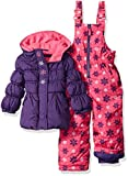 Pink Platinum Baby Girls' Snowflake Printed Snowsuit, Purple, 24 Months