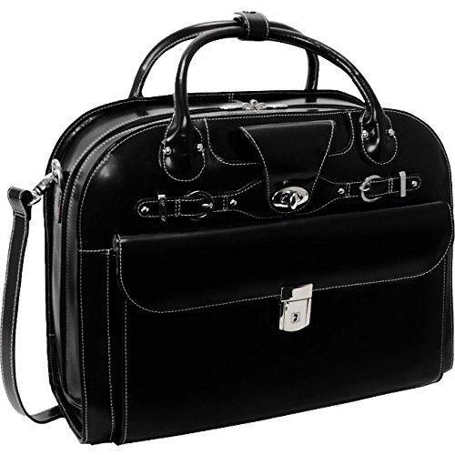 McKleinUSA ROSEVILLE 96645 Leather Fly-Through Checkpoint-Friendly Detachable-Wheeled Ladies' Briefcase