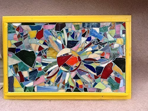 Sun Wall Art Stained Glass Mosaic by Mountain Mosaics