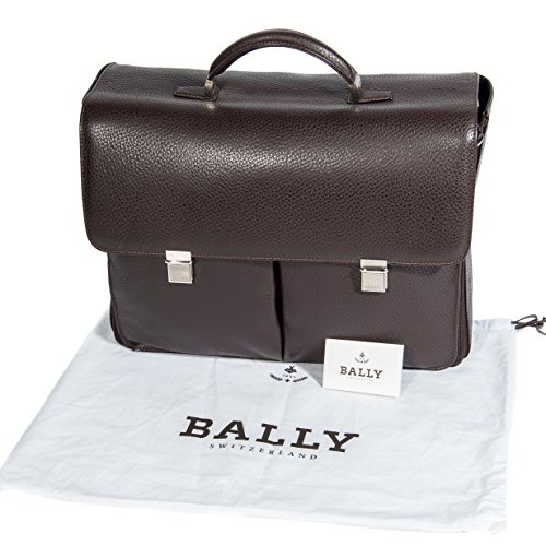 BALLY - Bolso de asas de Piel para hombre marrón marrón oscuro