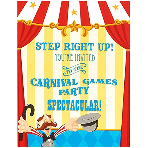 Carnival Games Party Supplies - Invitations (8)