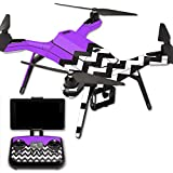 MightySkins Protective Vinyl Skin Decal for 3DR Solo Drone Quadcopter wrap cover sticker skins Purple Chevron