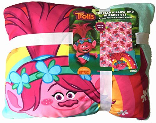 The Fun House Toddler Pillow and Blanket Poppy Trolls Set