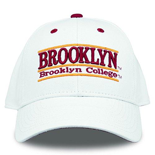 The Game NCAA Brooklyn College Bulldogs Bar Design Hat, White, Adjustable