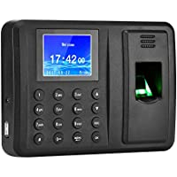 Antner Fingerprint Time Attendance Clock Output Attendance Report Directly USB Flash Disk Download Employee Payroll Recorder, Black