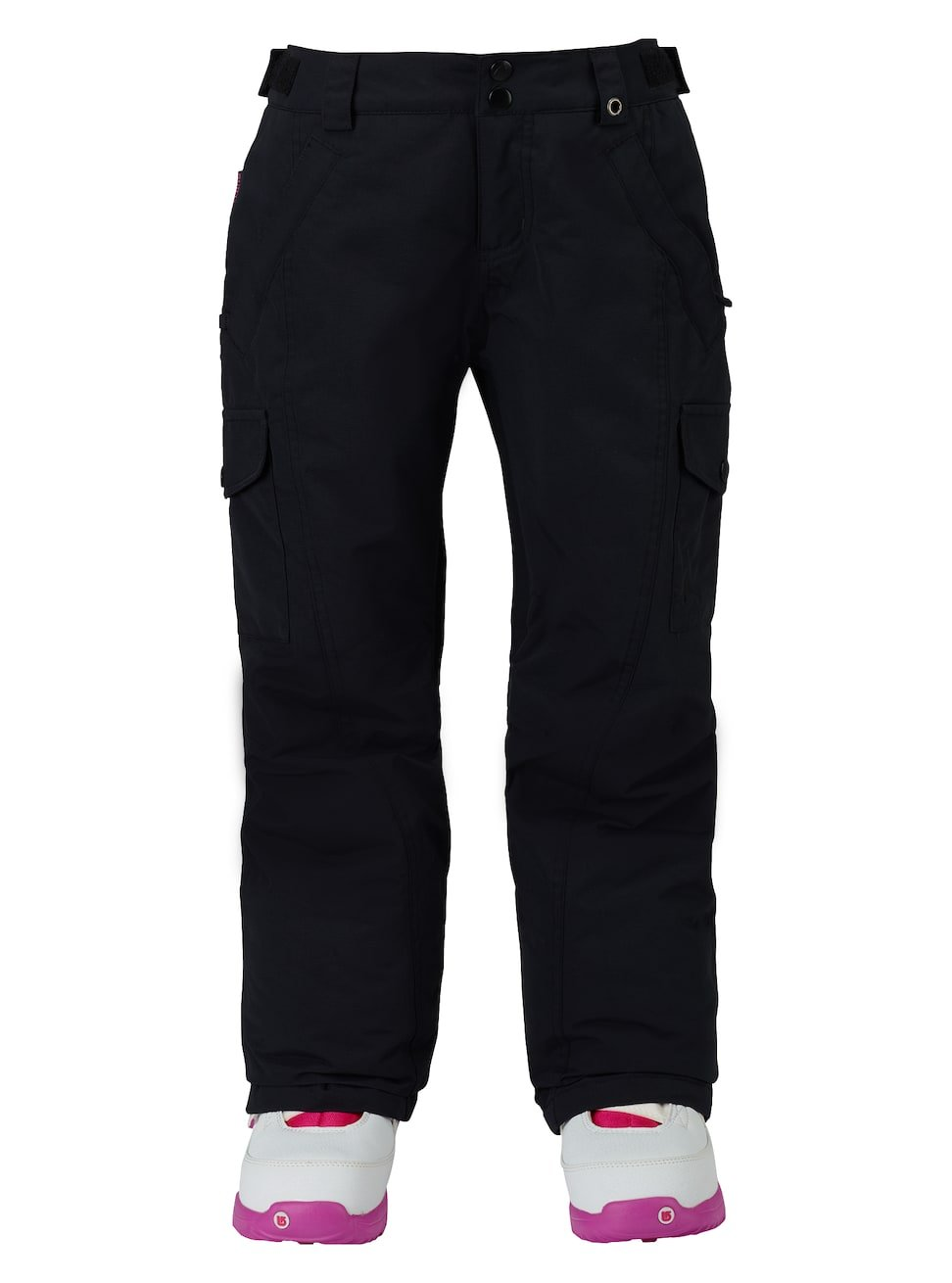 Burton Youth Girls Elite Cargo Pants, True Black, X-Small by Burton