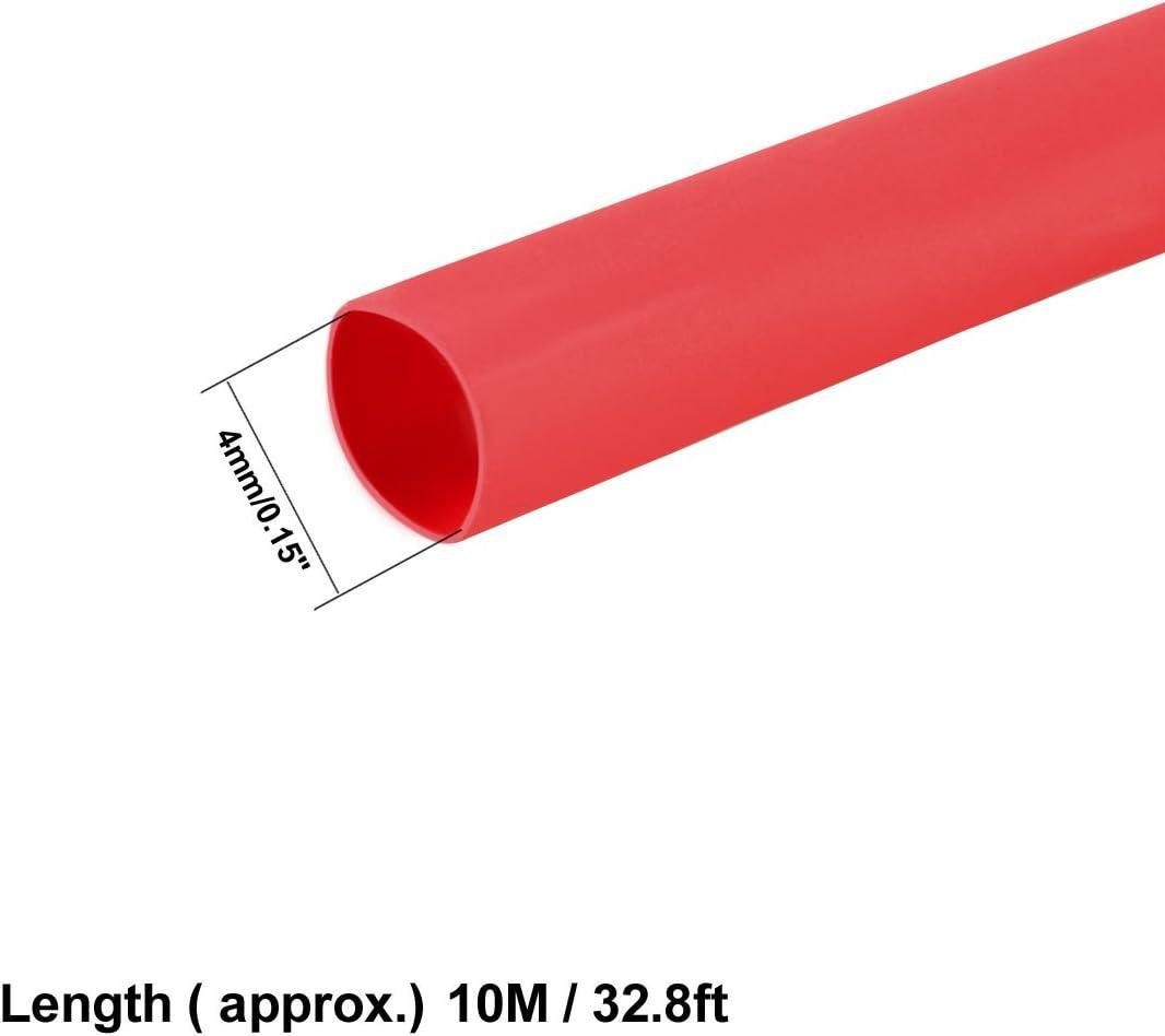 Sourcingmap 5 M x 2 mm Diamètre 2:1 retrait Ratio Isolé Chaleur Shrink Tubing B