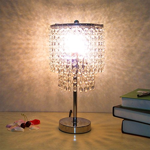 crystal chandelier table lamp - 4