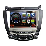 CarSong 8 inch HD Car DVD Player GPS Navigation For 2003-2007 Honda Accord Single Zone Double Din In Dash Multimedia Audio Stereo Video System Support Bluetooth iPOD USB SD RDS FM AM Touch Screen