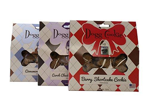 Dogg Cookie Variety Bundle - Cinnamon Roll, Carob Checkerboard, Berry Shortcake