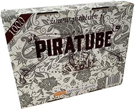 PIRATUBE - 1000 tubos para cigarrillos   Tubos con filtros   Caja rígida sin tubo aplastado: Amazon.es: Salud y cuidado personal