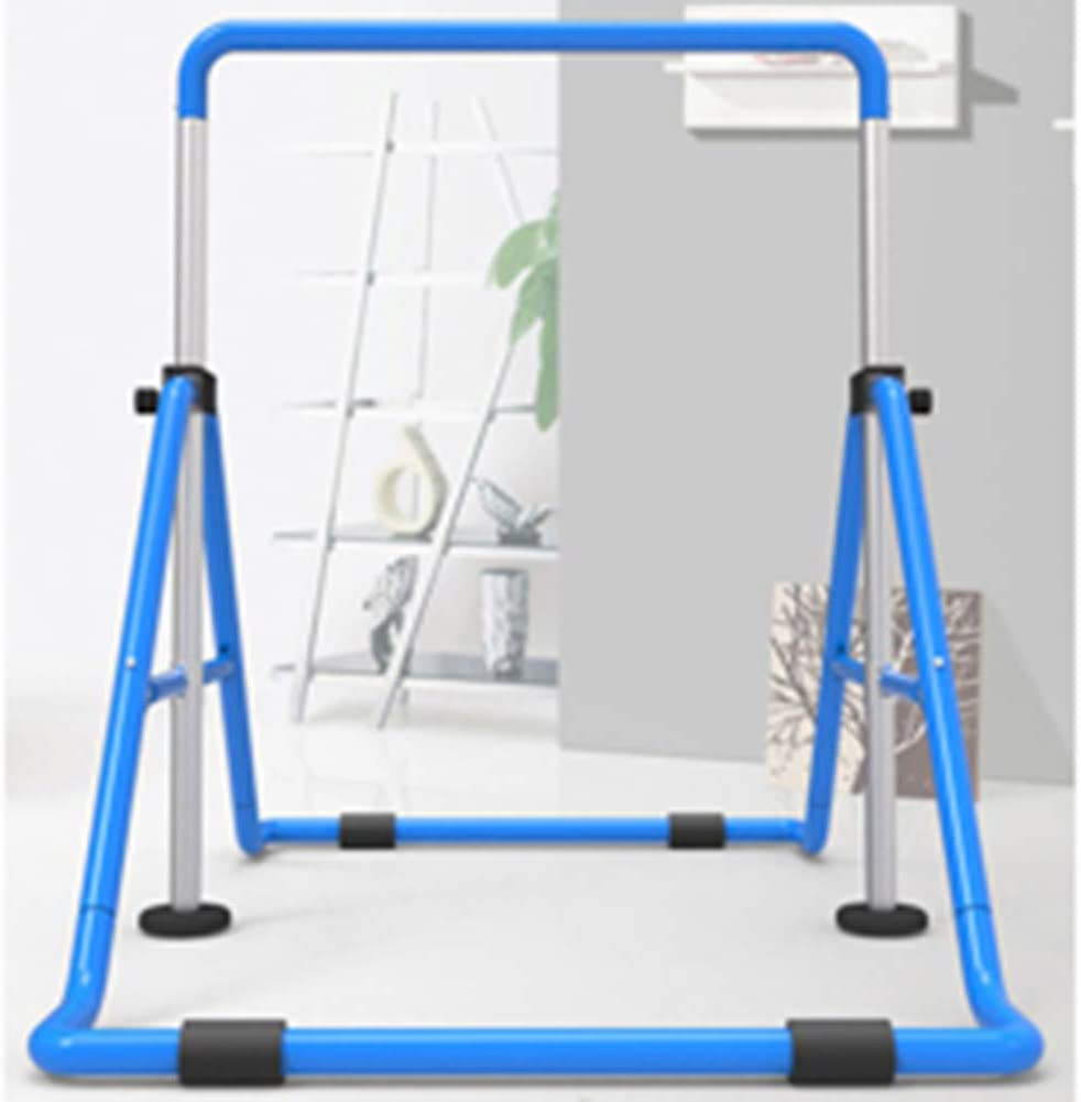 Lisaion Indoor Kids Horizontal Bars Adjustable Household Muscle Strength Pull-up bars Portable Foldable gym Fitness Equipment for Children Home Training