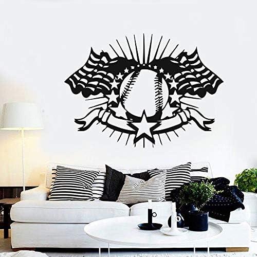Geiqianjiumai Pegatinas de Pared de Dormitorio de béisbol Americano decoración de hogar extraíble decoración de Sala de Estar póster 118.5X85.5CM: Amazon.es: Hogar