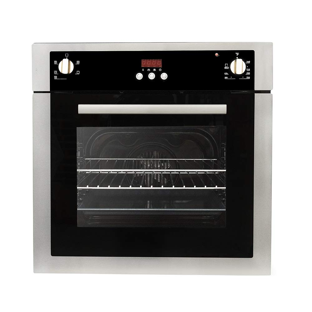 Cosmo C51EIX 24 in. 2 cu. ft. Single Electric Wall Oven with 5 Functions and Faster Cooking Convection in Stainless Steel by Cosmo