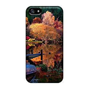 New Nature Sunset At Lake Backgrounds Tpu Cover Case For Iphone 5/5s