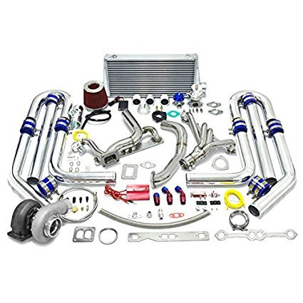 High Performance Upgrade GT45 T4 22pc Turbo Kit - Chevy Small Block SBC Engine
