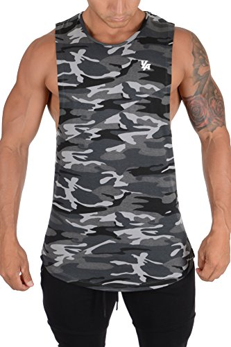 3b24f5f0ed18 YoungLA Long Tank Tops for Men Muscle Shirt Bodybuilding Gym Athletic  Training Sports Everyday Wear 306