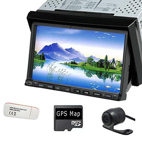 "Pupug Map GPS Navigation 7"" 2DIN Car Radio Stereo CD DVD Player Bluetooth iPod TV SD 3G Dongle Camera pc Headunit"