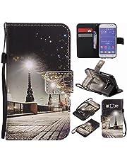 Ougger Funda para Samsung Galaxy Core Prime / G360 Carcasa, Billetera PU Cuero Magnética Stand Silicona Flip Piel Bumper Protector Tapa Cover Case con Ranura para Tarjetas, Escena Nocturna