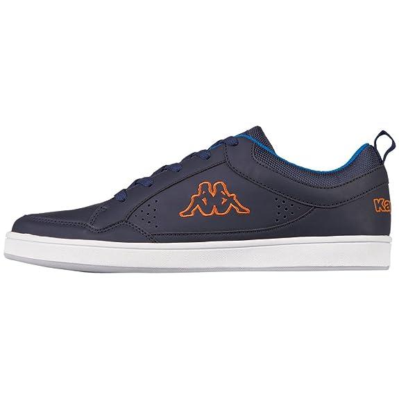Kappa Herren Forward Low Sneaker, Blau (Navy/Orange), 45 EU