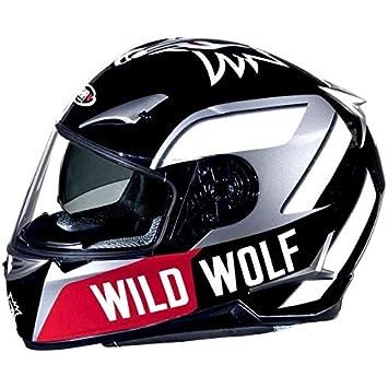 SHIRO SH-715 WILD WOLF-Casco para moto doble pantalla, color negro y