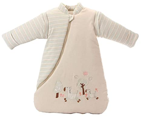 lulupila - Saco de dormir para bebé, con forro, para primavera, otoño e