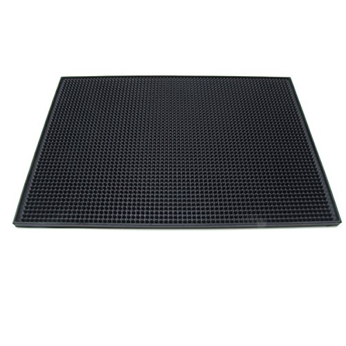 Large Rubber Bar Service Spill Mat - 18'' x 12'' - Brown by KegWorks