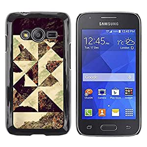 Caucho caso de Shell duro de la cubierta de accesorios de protección BY RAYDREAMMM - Samsung Galaxy Ace 4 G313 SM-G313F - Geometrical Photo Art Seashore