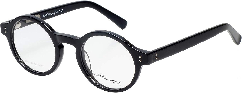 Vintage Style Ernest Hemingway H4722 Black 50//18 Sunglasses P3 Round Keyhole