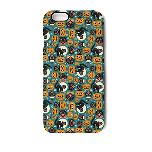 Halloween Spooky Vintage Cats And Pumpkins IPhone 8/8 Plus Case IPhone 7/7 Plus Case IPhone 6/6s/6plus/6s Plus Case Soft Feeling Full Protective Phone Back Case (Halloween Cat Iphone Wallpaper)