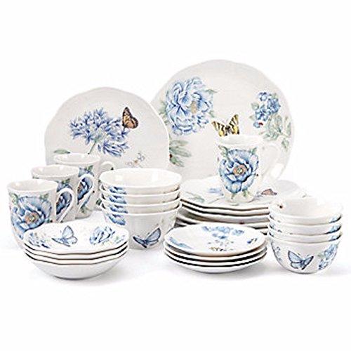 Lenox Butterfly Meadow Blue Dinnerware Set 28 Piece Service