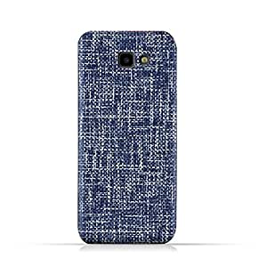 AMC Design Samsung Galaxy J4 Core TPU Silicone Soft Protective Case with Brushed Chambray Pattern