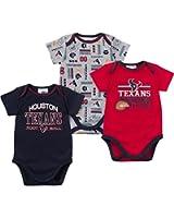 Gerber Houston Texans Short Sleeve Infant Bodysuits - 3 Pack