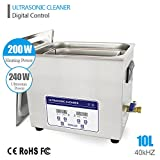 10L Professional Ultrasonic Cleaner Industrial/Commercial component/ Auto Engine Parts/Auto/Moto parts/Car Accessories Cleaning /Hospital Medical equipment/Devices Cleaning