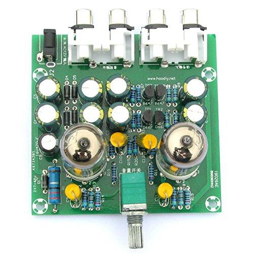 Rokoo Válvula 6J1 DIY Tube Amplificador Preamp AMP Pre-Amplificador Junta Headphone Buffer DIY Kit Material: Plástico, Tamaño: 77 MM * 75 MM * 52 milímetros ...
