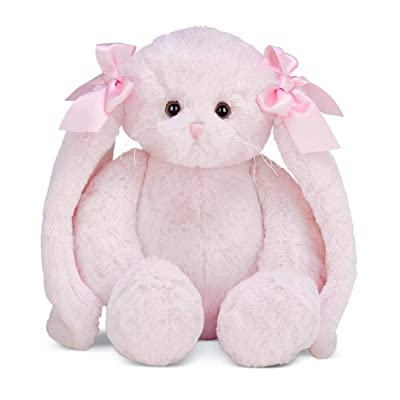 Bearington Bun Bun Pink Plush Bunny Stuffed Animal, 14 inches: Toys & Games