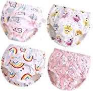 Baby Toddler 4 Pack Cotton Training Pants Toilet Training Underwear for Boys and Girls 12M-4T