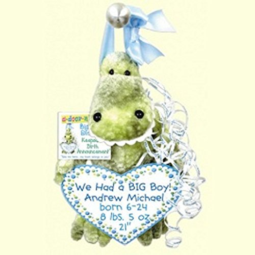 Big Teeth Dinosaur Keepsake Birth Announcement by a-door-nimals (Image #1)