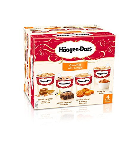 Helado Häagen Dazs Caramel Attraction Mini tarrinas 4 x 95 ml: Amazon.es: Alimentación y bebidas