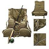 Multi-pocket Mesh Fishing Vest Outdoor Vest Fly Vest Adjustable Size Jacket (Mesh)