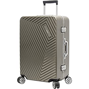 Image of Luggage Andiamo Elegante Suitcase with Built-in TSA Lock - Zipperless 24 Inch Hardside Checked Bag- Lightweight (ABS+PC) Luggage With 8-Rolling Spinner Wheels (Gold)