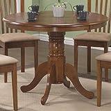Monarch Specialties Round Pedestal Table, 40-Inch, Oak