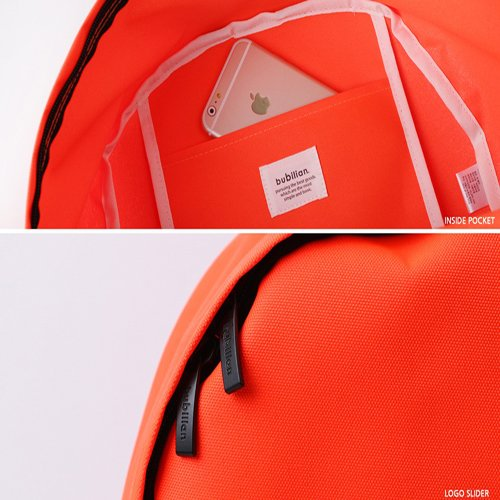 Bubilian School Bag Beige Orange Bright Korean Backpack BTBB Street Brand Travel Bag S7xrpS1q