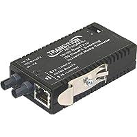 Transition Networks M/E-ISW-FX-01AC Industrial Mini 10/100 Bridging Media Converter - Fiber media converter - Ethernet, Fast Ethernet - 10Base-T, 100Base-FX, 100Base-TX - RJ-45 / ST multi-mode - up to 1.2 miles - 1310 nm